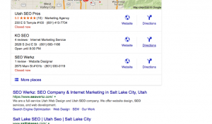 SEO Salt Lake City Search Results